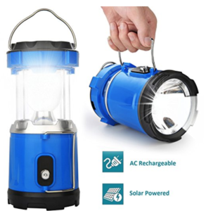 Solar lantern and flashlight - survival tools